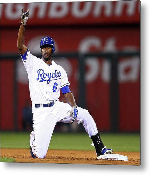 Game Two Metal Print featuring the photograph Lorenzo Cain by Elsa