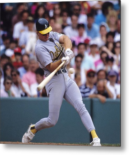 National League Baseball Metal Print featuring the photograph Mark Mcgwire by Ronald C. Modra/sports Imagery