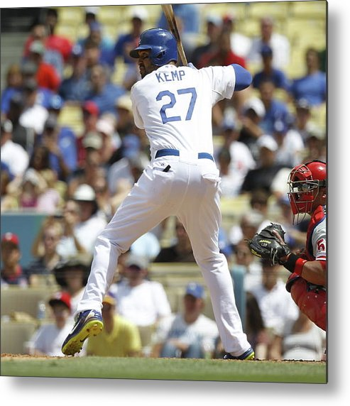 California Metal Print featuring the photograph Matt Kemp by Paul Spinelli