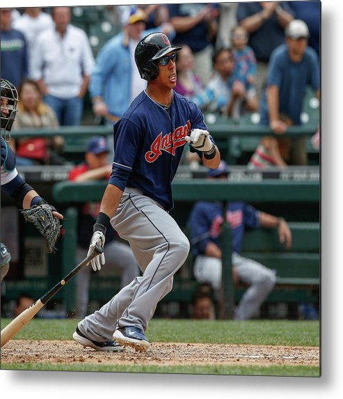 American League Baseball Metal Print featuring the photograph Michael Brantley by Otto Greule Jr