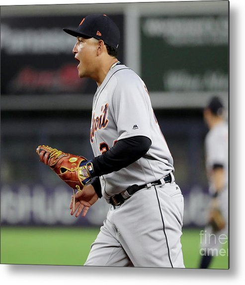 Three Quarter Length Metal Print featuring the photograph Miguel Cabrera by Elsa