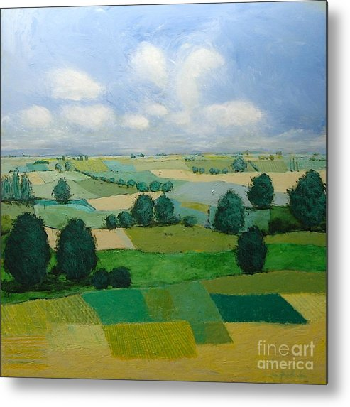 Landscape Metal Print featuring the painting Morning Calm by Allan P Friedlander