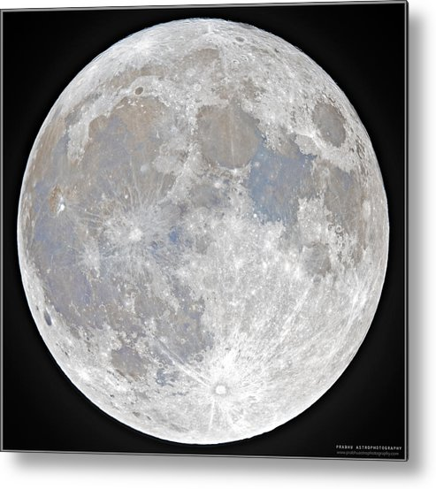 Fullmoon Metal Print featuring the photograph October 2020 Halloween Full/Blue Moon by Prabhu Astrophotography