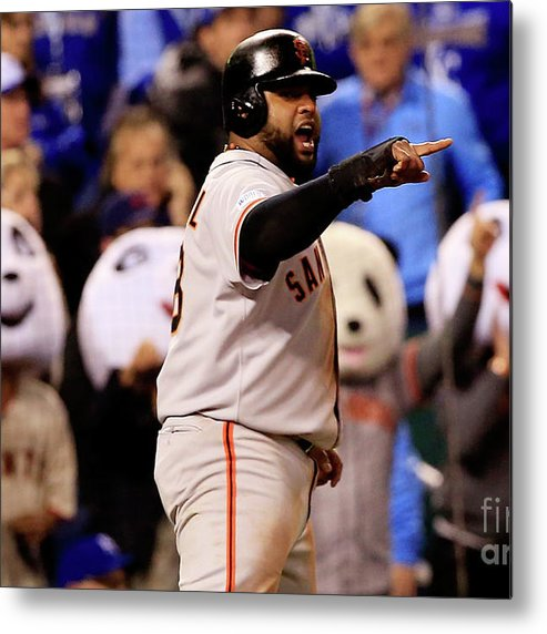 People Metal Print featuring the photograph Pablo Sandoval by Jamie Squire
