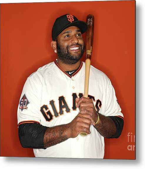 Media Day Metal Print featuring the photograph Pablo Sandoval by Patrick Smith