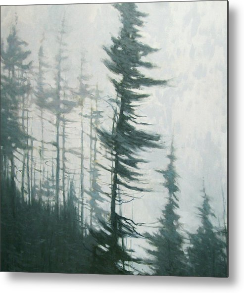 Metal Print featuring the painting Pine Portrait by Mary Jo Van Dell
