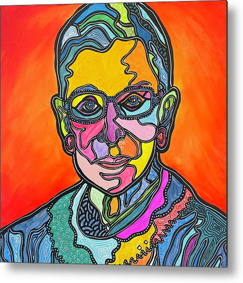Rbg Metal Print featuring the painting Rbg 2 by Marconi Calindas