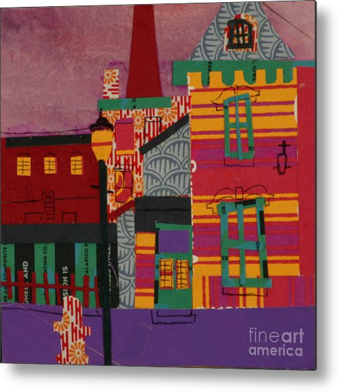Lowell Metal Print featuring the mixed media Revolving Museum by Debra Bretton Robinson