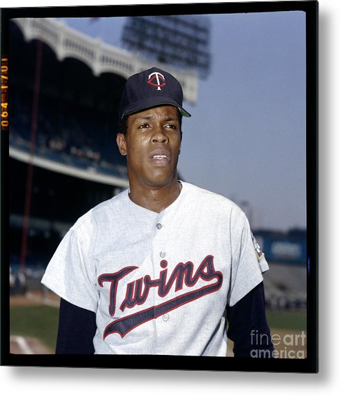 American League Baseball Metal Print featuring the photograph Rod Carew by Louis Requena