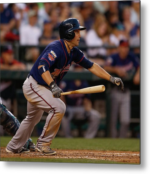 American League Baseball Metal Print featuring the photograph Sam Fuld by Otto Greule Jr