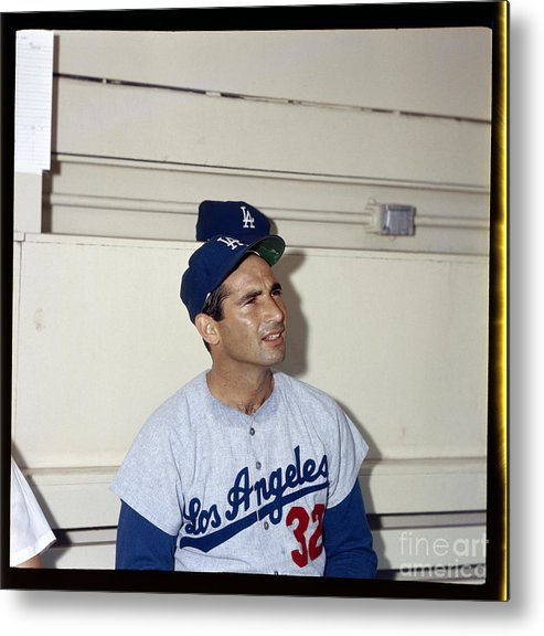 Sandy Koufax Metal Print featuring the photograph Sandy Koufax by Louis Requena