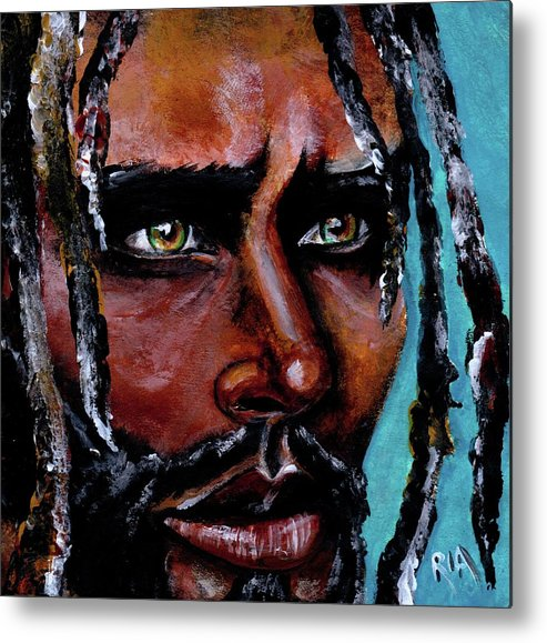 Eyes Metal Print featuring the painting Selfless Life by Artist RiA