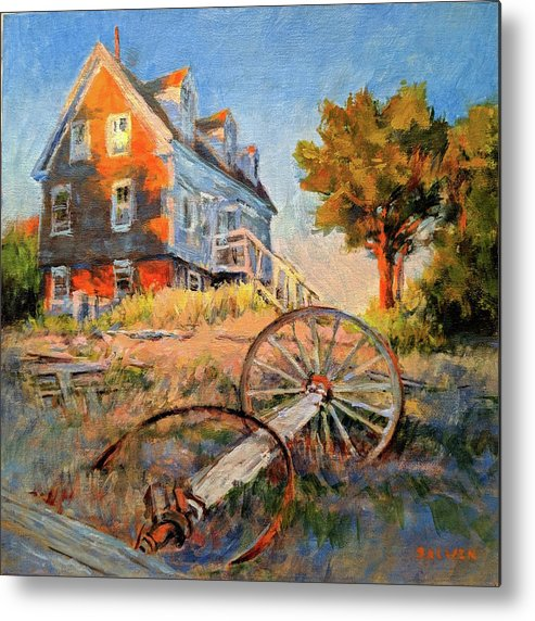 Cape Cod Metal Print featuring the painting The Old Silva Place No. 2 by Peter Salwen
