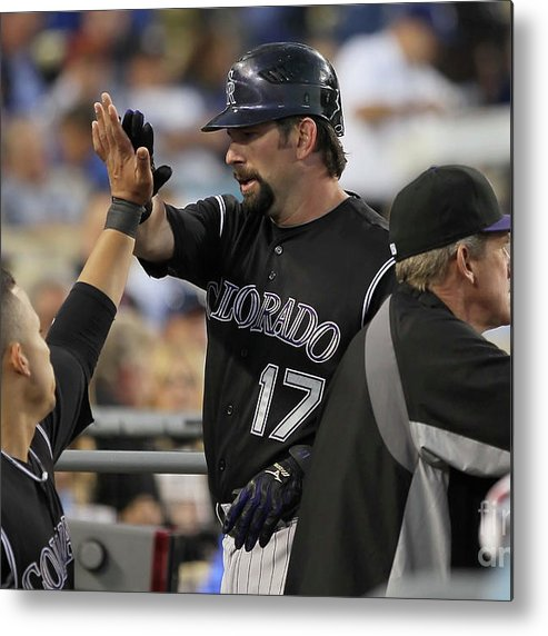 People Metal Print featuring the photograph Todd Helton by Jeff Gross