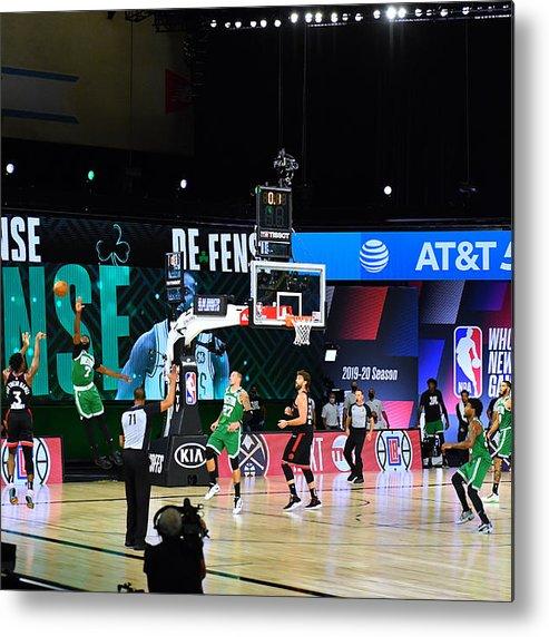 Metal Print featuring the photograph Toronto Raptors v Boston Celtics - Game Three by Jesse D. Garrabrant
