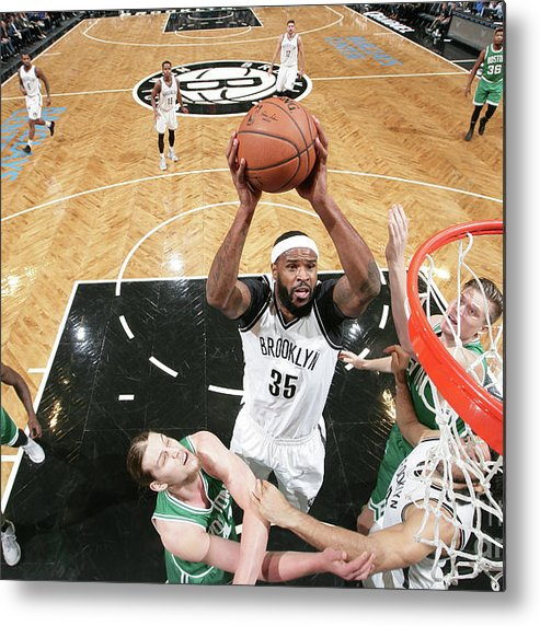 Nba Pro Basketball Metal Print featuring the photograph Trevor Booker by Nathaniel S. Butler
