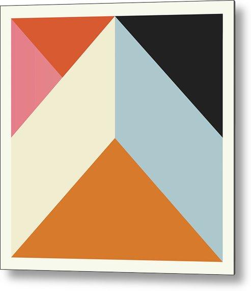 Burnt Orange Metal Print featuring the digital art Ultra Geometric X by Matt Market