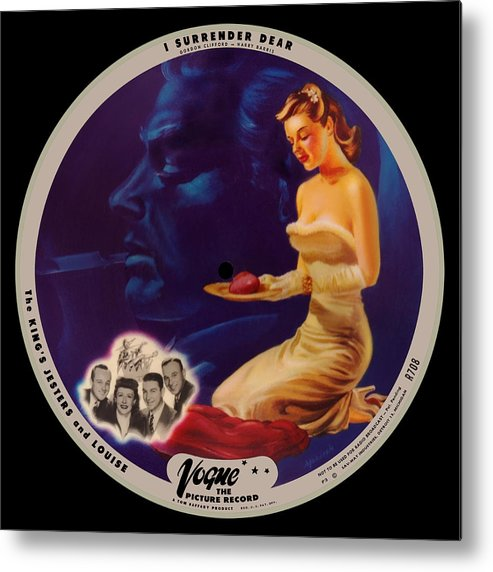 Vogue Picture Record Metal Print featuring the digital art Vogue Record Art - R 708 - P 3 - Square Version by John Robert Beck