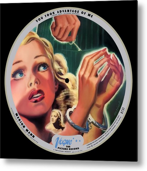 Vogue Picture Record Metal Print featuring the digital art Vogue Record Art - R 731 - P 105 - Square Version by John Robert Beck