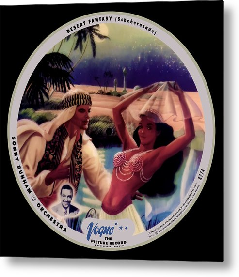 Vogue Picture Record Metal Print featuring the digital art Vogue Record Art - R 774 - P 141 - Square Version by John Robert Beck