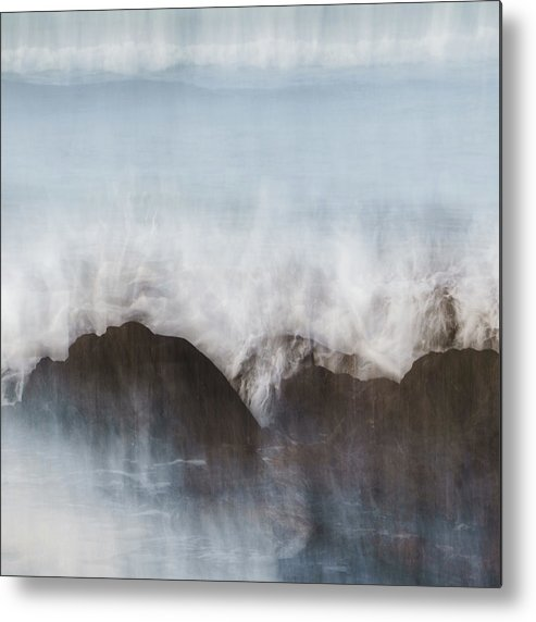 Abstract Metal Print featuring the photograph Wavecrash by Bear R Humphreys