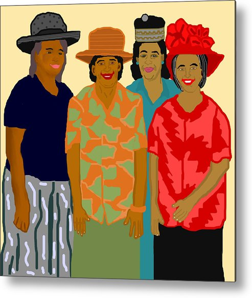 Women Metal Print featuring the painting Women of the Church by Pharris Art