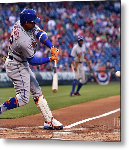 Yoenis Cespedes Metal Print featuring the photograph Yoenis Cespedes by Drew Hallowell