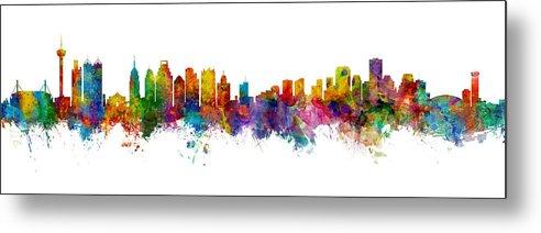 San Antonio and New Orleans Skyline Mashup by Michael Tompsett