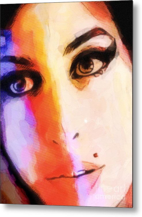 Amy Winehouse Art Metal Print featuring the painting Amy Pop-art by Lutz Baar