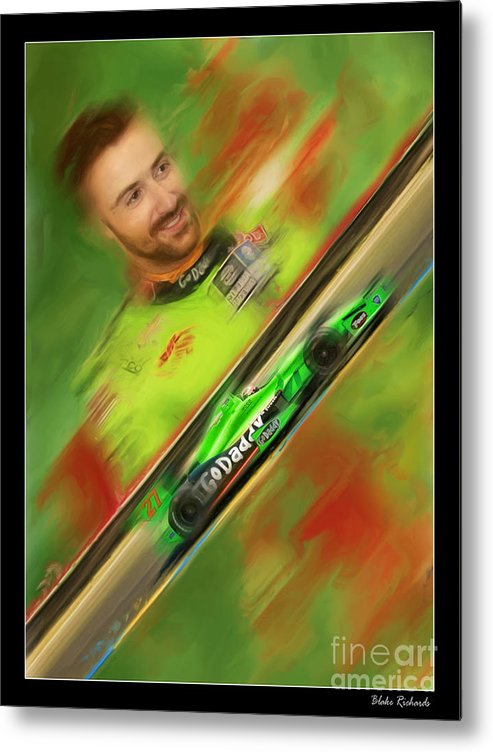 James Hinchcliffe Metal Print featuring the photograph James Hinchcliffe by Blake Richards
