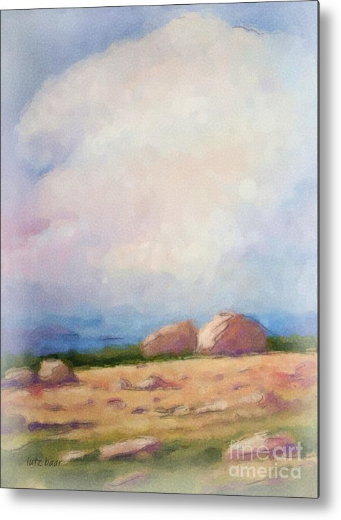 Impressionism Metal Print featuring the painting Stony Coast by Lutz Baar