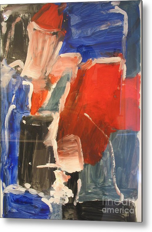 Abstract Metal Print featuring the painting Untitled Composition I by Fereshteh Stoecklein