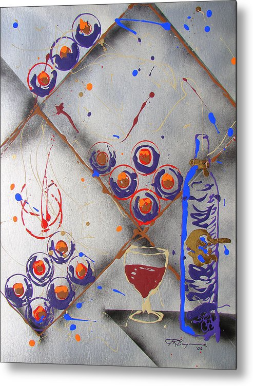 Wine Metal Print featuring the painting Wine Connoisseur by J R Seymour