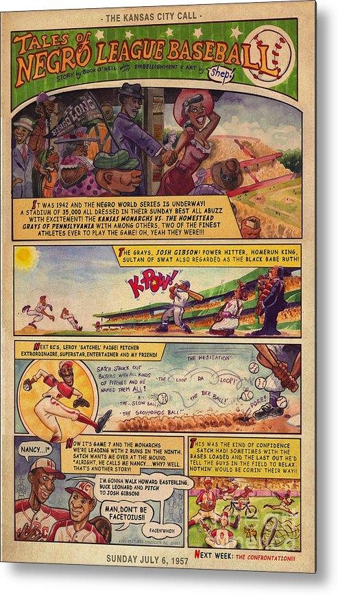 Kansas City Monarchs Metal Print featuring the painting Sunday Funnies #1 by Keith Shepherd