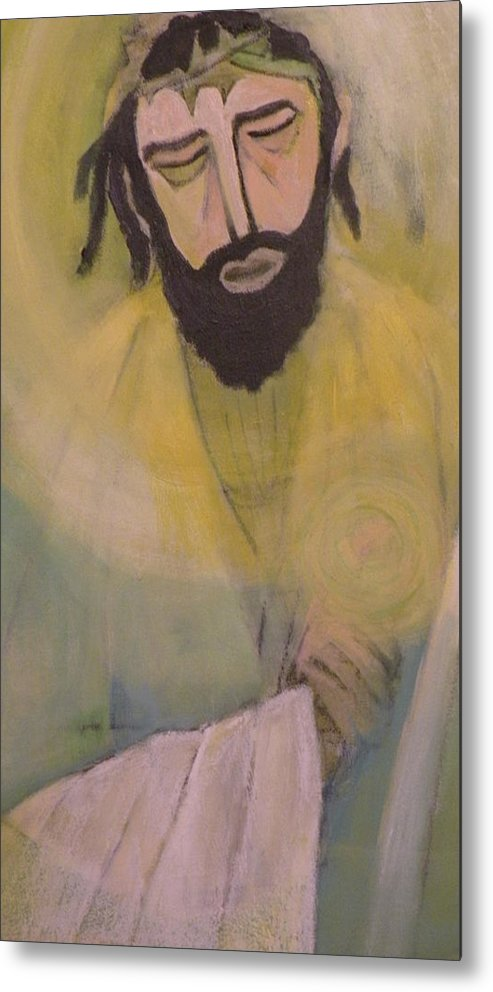 Portrait Metal Print featuring the painting Mesiah by Robert Daniels