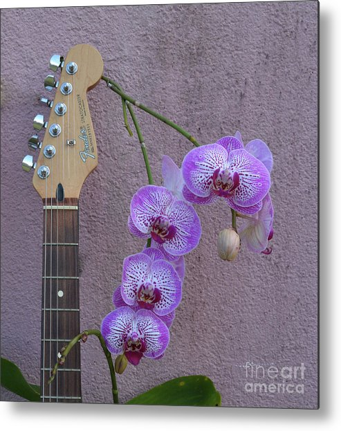 Fender Metal Print featuring the photograph Fender Still Life by To-Tam Gerwe