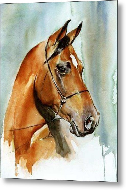 Sorrel Metal Print featuring the painting Rainbow by Adele Pfenninger