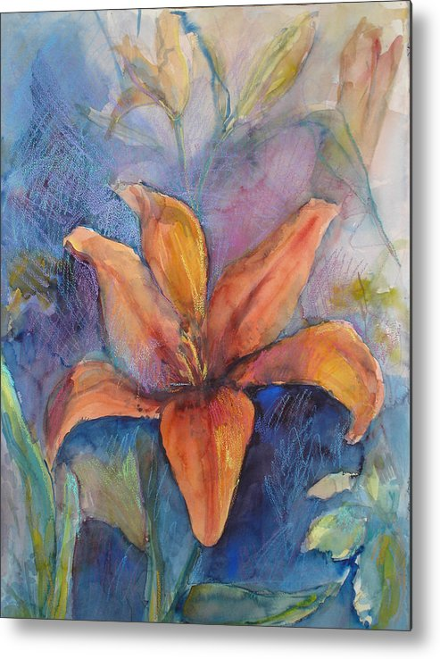 Lily Metal Print featuring the painting Glorius Lily by Joyce Kanyuk