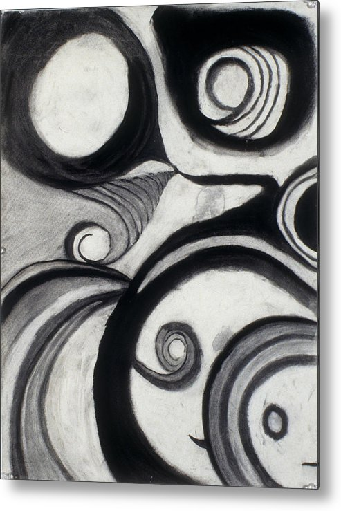 Charcoal Drawing Metal Print featuring the drawing Snorffs And Dweezelbobbins by Jamie Wooten