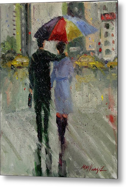 Rain Metal Print featuring the painting Better Than Golf by Mary Veazie