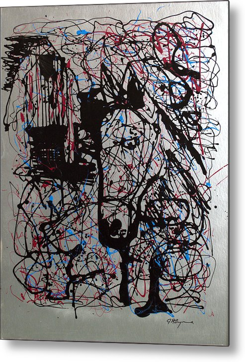 Horse Metal Print featuring the painting Barnyard Horse by J R Seymour