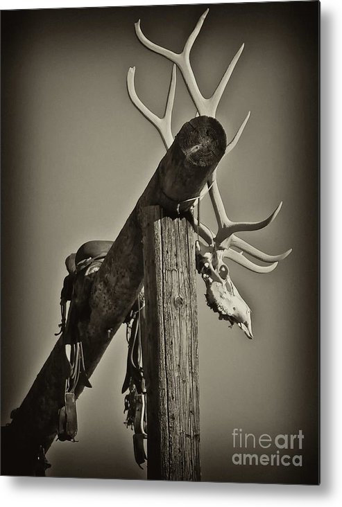 Ranch Metal Print featuring the photograph California Ranch Gate  by Gus McCrea