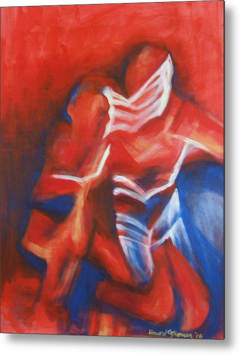 Figure Metal Print featuring the painting Double Take - Dancin Series Part Four by Howard Stroman