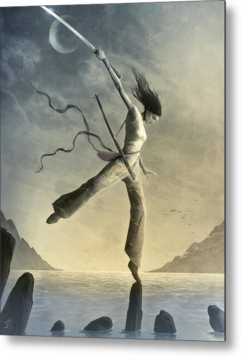 Zen Metal Print featuring the painting Dreamfall by Jason Engle