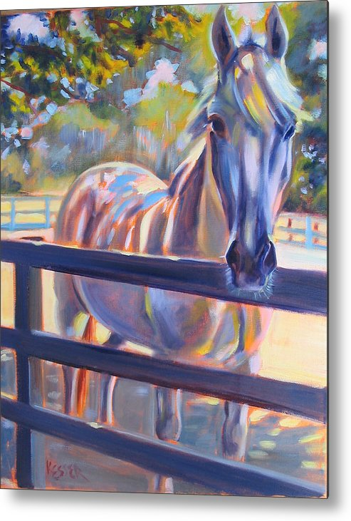 Horse Metal Print featuring the painting Hot And Humid by Kaytee Esser