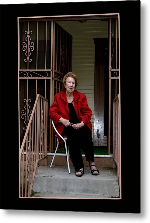 People Metal Print featuring the photograph Porchwatcher by Richard Gordon
