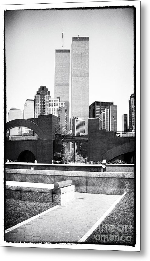 To The Towers 1990s Metal Print featuring the photograph To The Towers 1990s by John Rizzuto