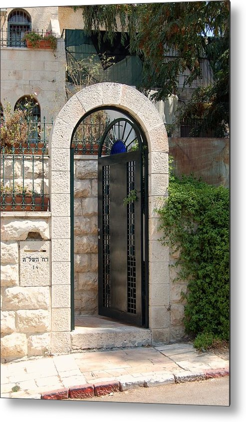 Israel Metal Print featuring the photograph Gate In Rehavia II by Susan Heller