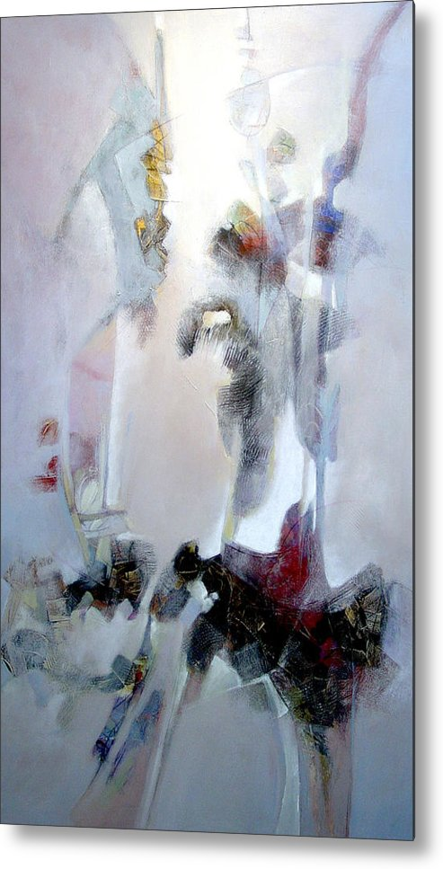 Abstract Metal Print featuring the painting Dignity by Dale Witherow