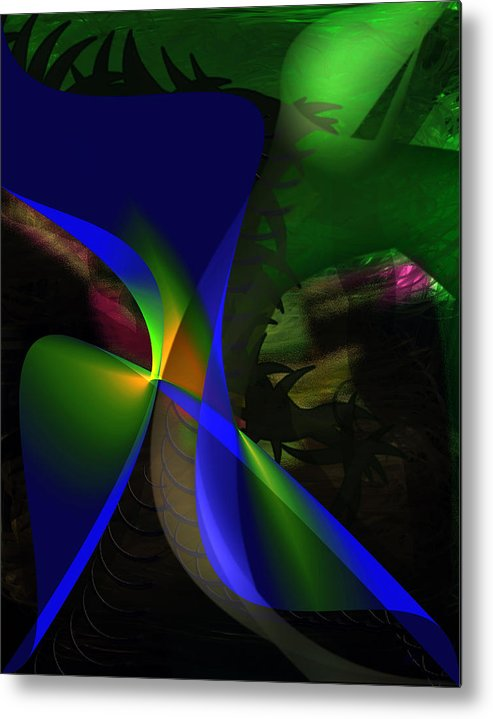 Contemporary Metal Print featuring the painting A Dream by Gerlinde Keating - Galleria GK Keating Associates Inc